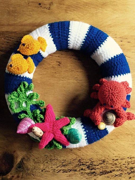 117 Best Crochet Door Wreaths Images On Pinterest Crochet Wreath