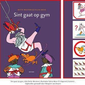 Digibordles-sint-gaat-op-gym. 2 Spellen gaan over sporten, waarbij aan diverse doelen wordt gewerkt zoals auditieve analyse (beginklankenspel) + kritisch luisteren (welke sport wordt er bedoeld?). In het 3e spel staat het hondje centraal. Hebben de kinderen hem in het boek gezien? Kijk maar goed hoe het eruit ziet (visueel geheugen). Het 4e spel gaat over schoentje zetten. De kinderen kijken hoe groot de schoenen zijn … staan ze wel in de juiste volgorde van groot naar klein?