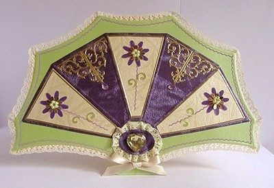 HANDMADE FAN SHAPED GREETING  CARD: Shaped Cards, Gifts, Shaped Greeting, Greeting Card, Handmade Shaped, Paper Crafts, Crafty Ideas