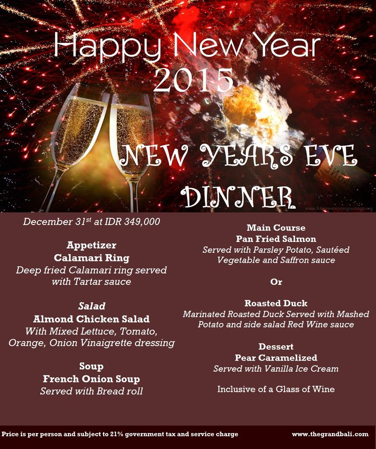 End the 2014 with New Year's Eve Dinner with family at The Grand Bali Nusa Dua