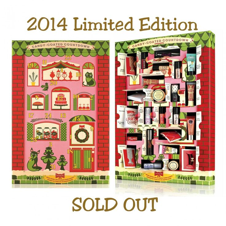 Benefit Cosmetics Candy-Coated Christmas Countdown 2014 Limited Edition Beauty Advent Calendar