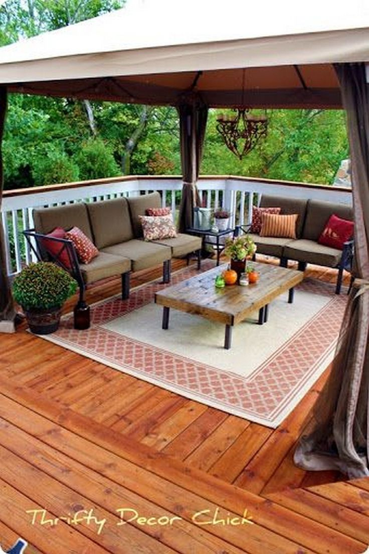 99 Deck Decorating Ideas Pergola, Lights And Cement Planters (9)