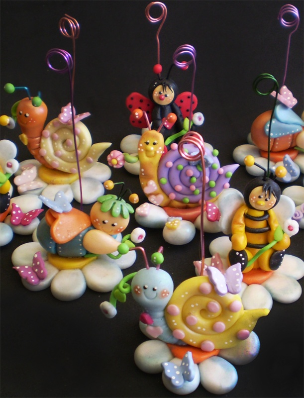Filmo, #polymer #clay party place holders