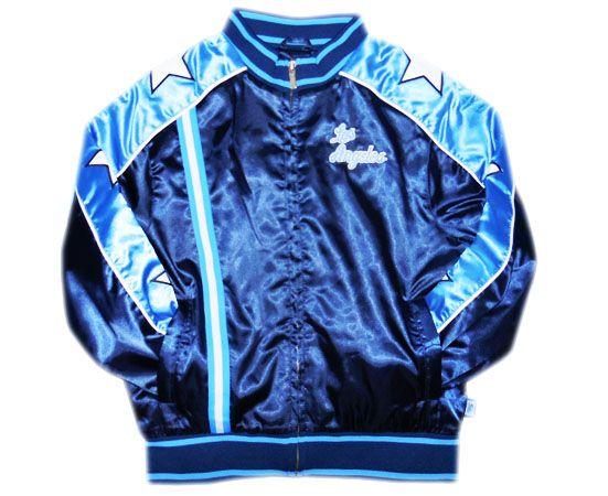 [LADY's]LAKERS STUDIUM JACKET[NAVY x SKY BLUE] - 【LA PUERTA】 チカーノラップCD ウエストコーストスタイルファッション