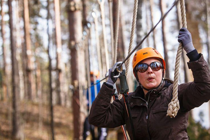 Getting active in Atreenalin Adventure Park (Lappeenranta & Imatra region) Picture by: goSaimaa.com/Mikko Nikkinen