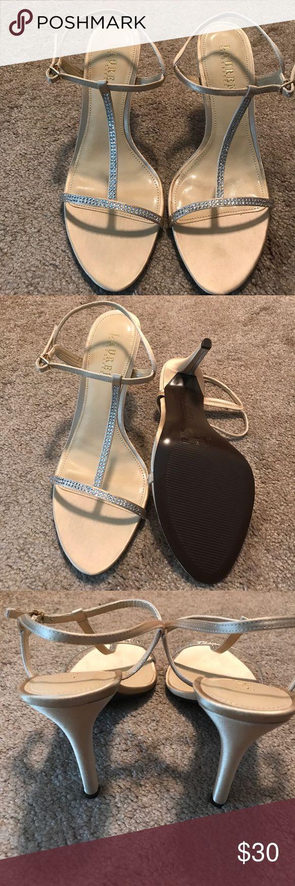 Gold Studded Ralph Lauren Heels Size 8.5 Beautiful gold studded never worn Ralph Lauren heels ready for summer dinner dress! Ralph Lauren Shoes Heels