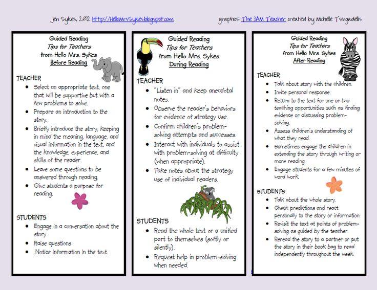 FREE - Guided Reading Cheat Sheet