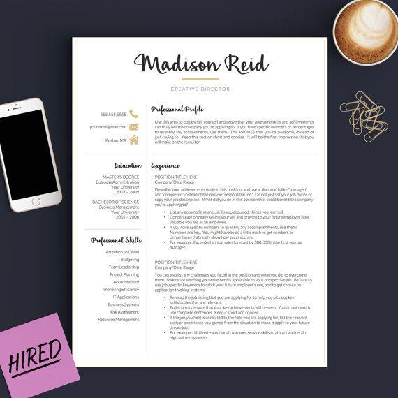 178 best Professional Resume Templates images on Pinterest DIY - cv it professional