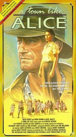 A Town Like Alice (1981) by Nevil Shute; Helen Morse, Bryan Brown & Gordon Jackson).  Set against the brutal chaos of World War II, a love story begins that will take two lovers through a living nightmare of captivity, across three continents and two decades. From the steamy jungles of Malaya to the dusty and desolate outback of Australia Based on Nevil Shute' international bestselling novel, the story follows the lives of Jean Paget and Joe Harman. Meeting in Malaya--she is an attractive…