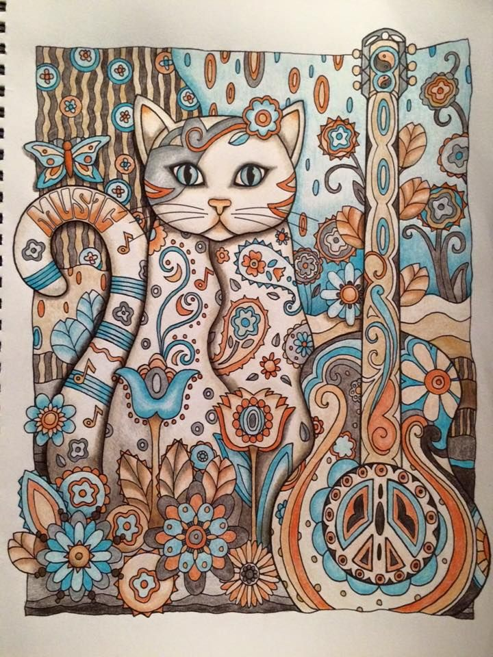61 best images about Creative Cats Coloring Book Completed ...