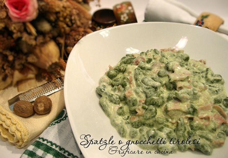 Spätzle agli spinaci o gnocchetti tirolesi