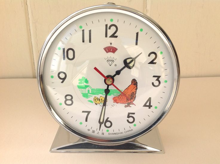Vintage Children's Animated Hen Chicken Alarm Clock Diamond Shanghai China Boxed by BubbleandSqueakStore on Etsy