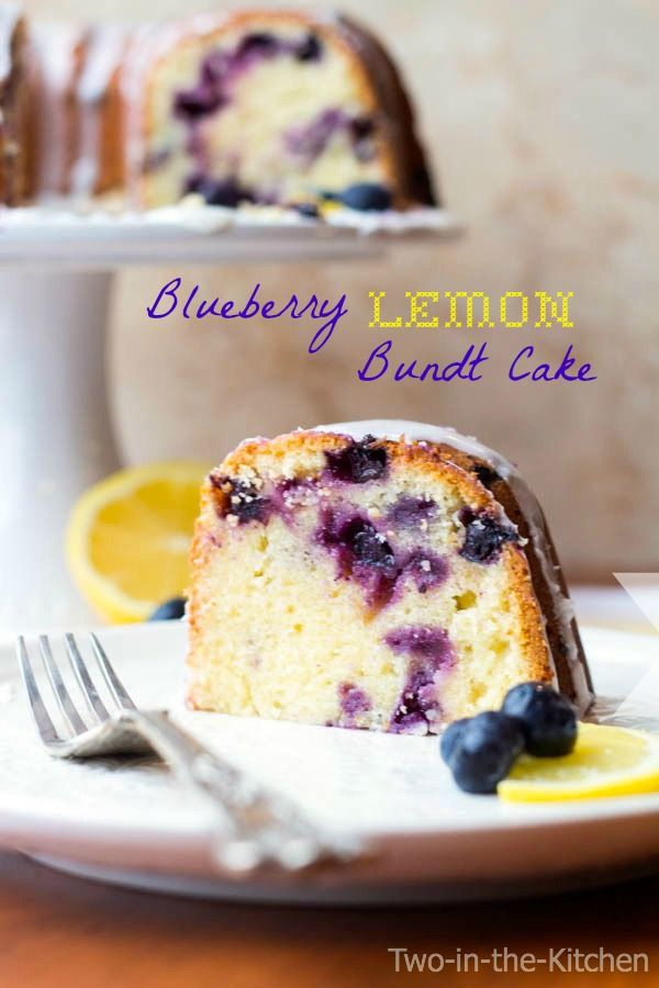 Blueberry Lemon Bundt Cake Two in the Kitchen v: Bundt Cakes, Sweet ...