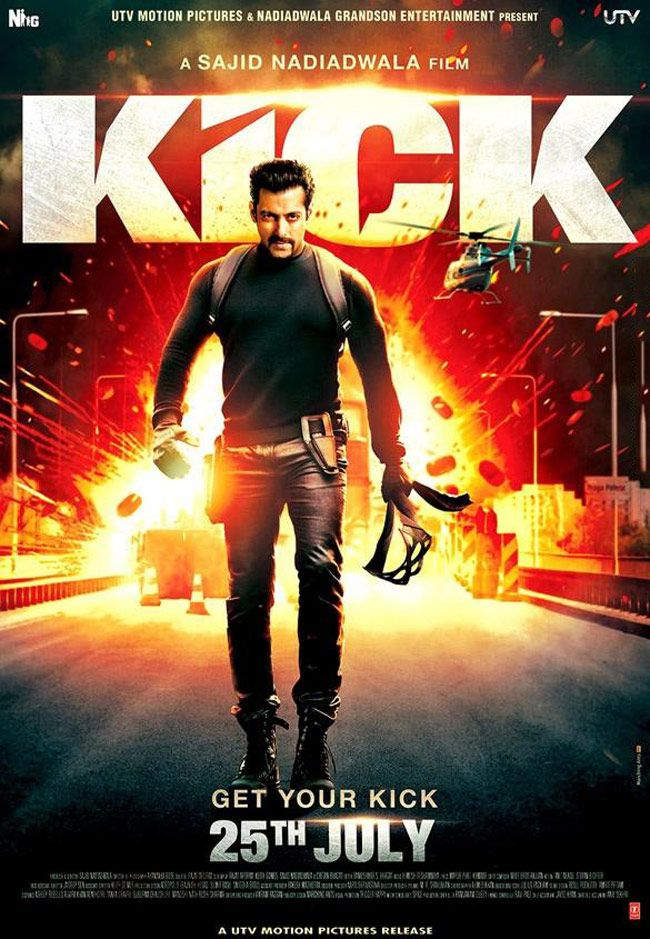 Kick poster: Salman Khan #Bollywood #Movies