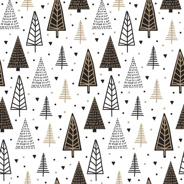 Scandinavian Seamless Pattern With Christmas Tree Vintage Cute Christmas Wallpaper Christmas Phone Wallpaper Scandinavian Pattern