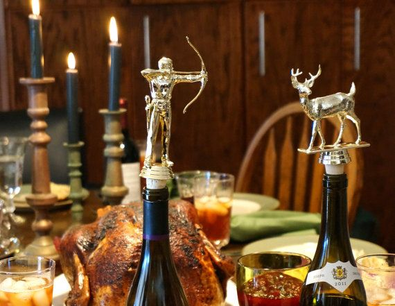 Men's Archery  Vintage Trophy Cork Wine Bottle by CaprockStudio, $14.00