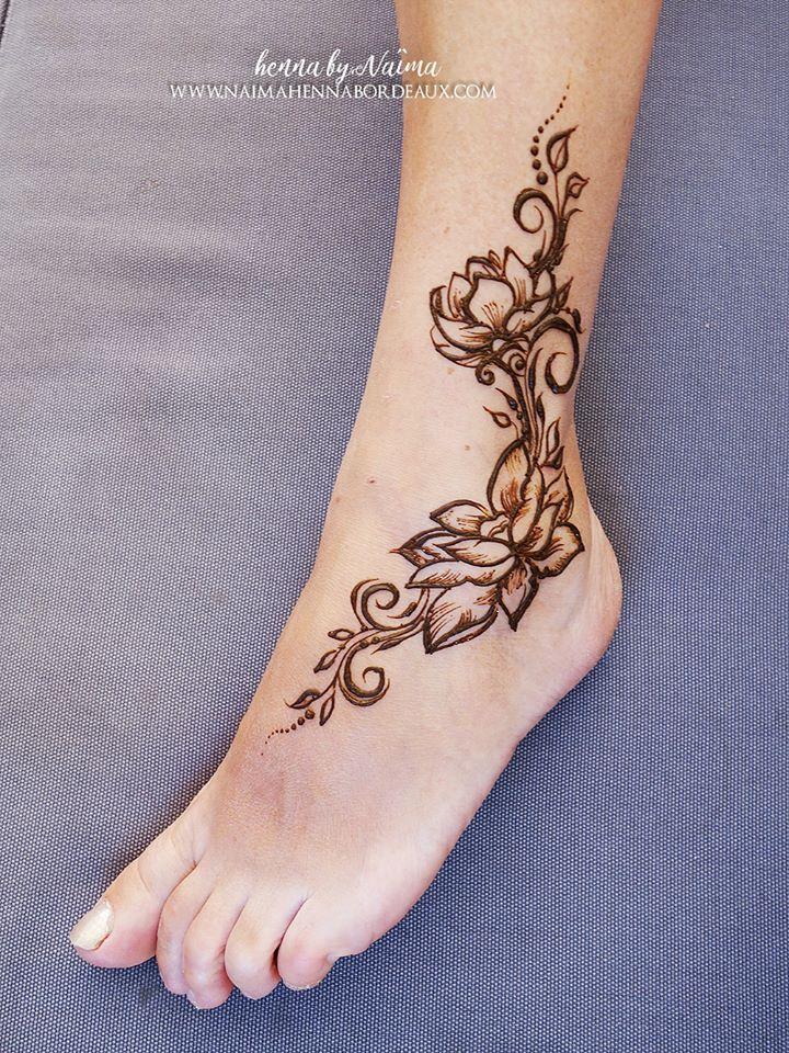 Épinglé par naïma henna bordeaux sur tatouages au henné naïma henna