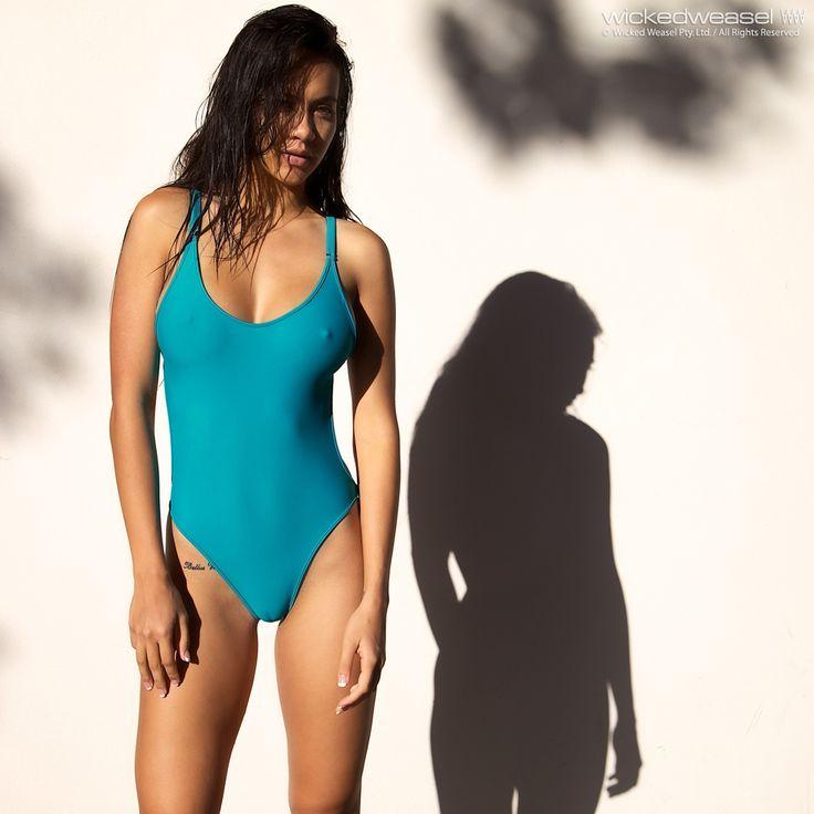 One piece swimsuit milf