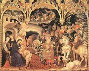 Adoration of the Magi (2) 1423  by Gentile Da Fabriano