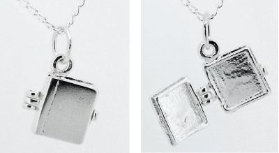 Locket - TEENY TINY LITTLE BOOK - Sterling Silver or 9ct Gold