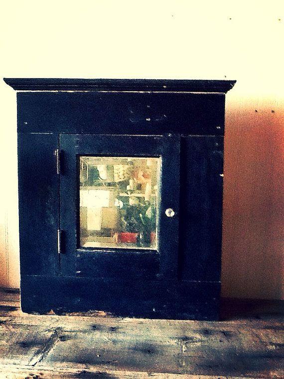 Antique Victorian Medicine Cabinet Beveled by vagabondsandcaravans
