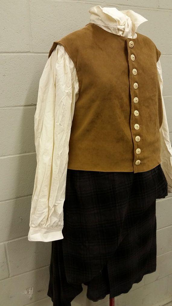 Outlander Jamie Frasier Scottish Kilt Costumes For Men
