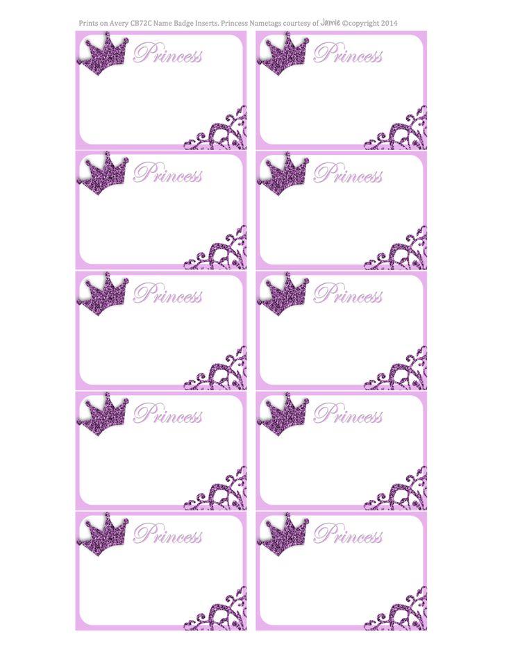 Princess Labels - FREE Printable