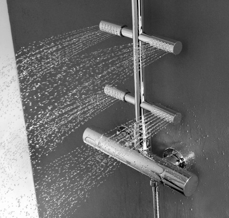 groheu0027s rainshower system 210 shower system with thermostat and side showers is now available with