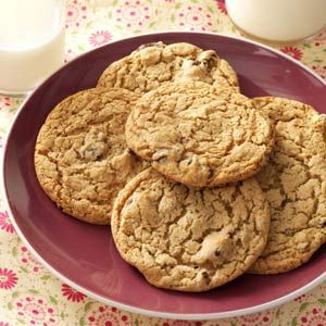 "Amish Raisin Cookies @Taste of Home - ""I found this recipe for a chewy raisin cookie in one of the many Amish cookbooks I own. I haven't seen it duplicated anywhere else."" —Marcia Wagner, Berrien Springs, Michigan"