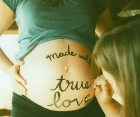 Take a photo like this and put on canvas! Great keepsake of pregnancy....