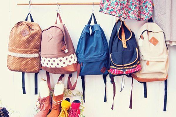 Coleção de mochilas.