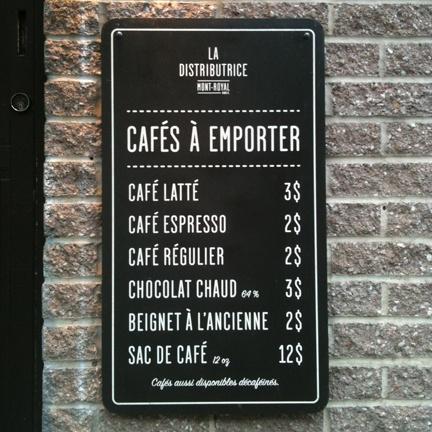 Toronto Coffee Guide: La Distributrice