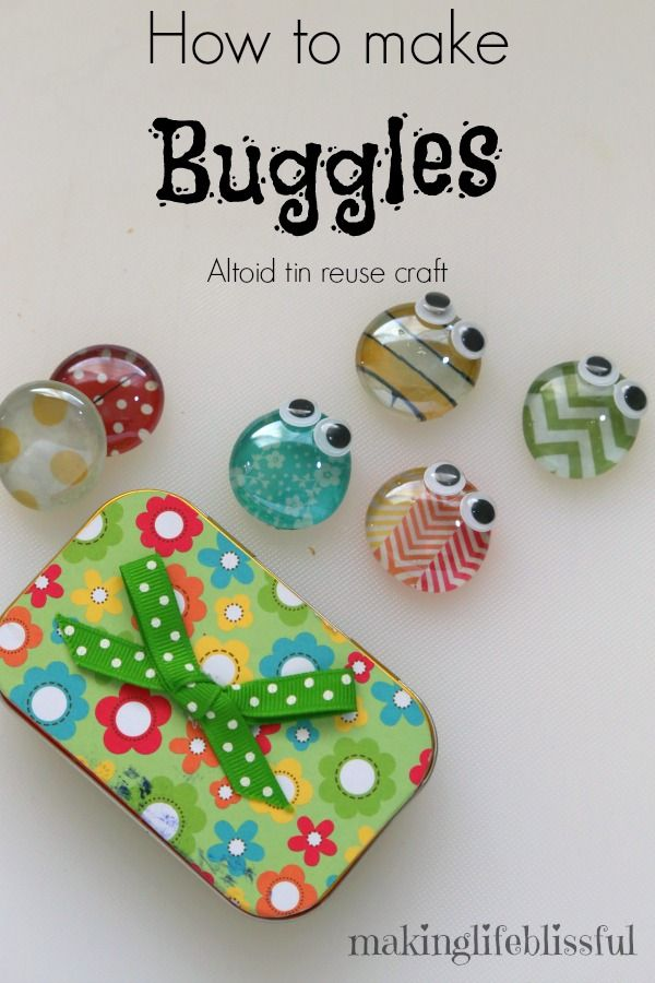 Making Life Blissful: Altoid Tin Reuse Bug Craft Toy - 2