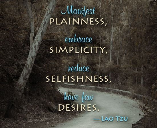Taoism quote about desires