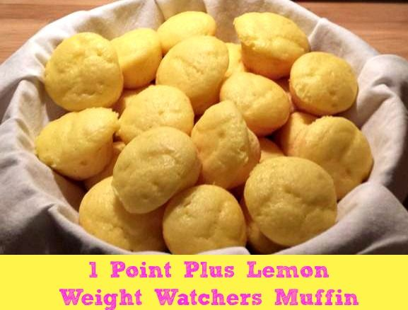 Lemon Weight Watchers Muffins 1 Points Plus Value or 2 Smart Points!