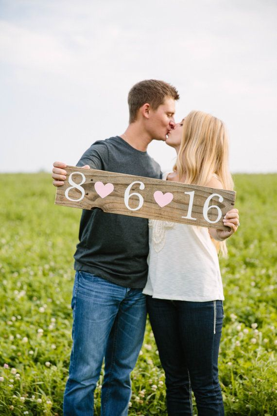 "CUSTOM ""Save the Date"" Rustic Reclaimed Wood Sign by The Turquoise Top Hat"