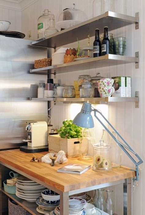 Best 25+ Stainless Steel Kitchen Shelves Ideas On Pinterest   Reclaimed  Kitchen, Kitchen Wood And Natural Kitchen