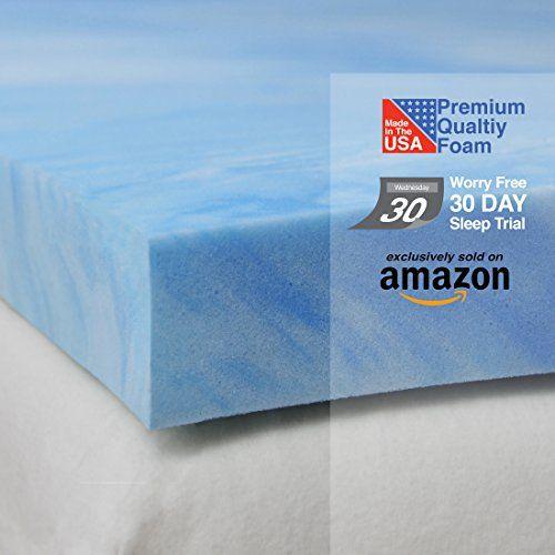 Density 2 Inch Gel Memory Foam Queen Mattress Topper //