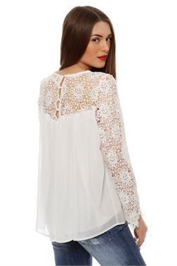 Lace Detail Top - ΡΟΥΧΑ -> Μπλούζες   Made of Grace