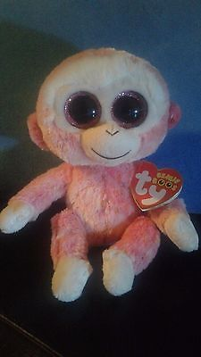 "Ty Beanie Boo - 2014 - Ruby the Monkey -  6"" - New with Tags"