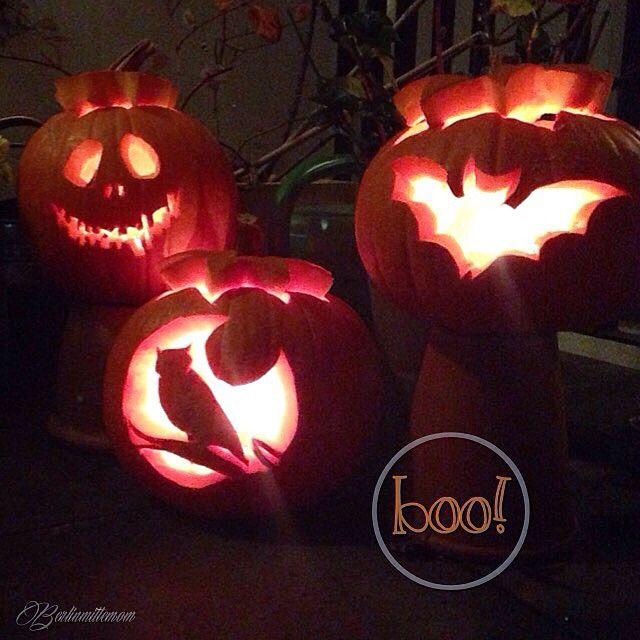 Kürbisse schnitzen mit Kindern, DIY, Kürbis Schnitz Set, Schablonen, Halloween