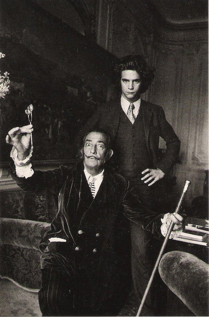 Salvador Dali et François Marie Banier à l'Hôtel Meurice. Paris. 1970  Alècio de Andrade