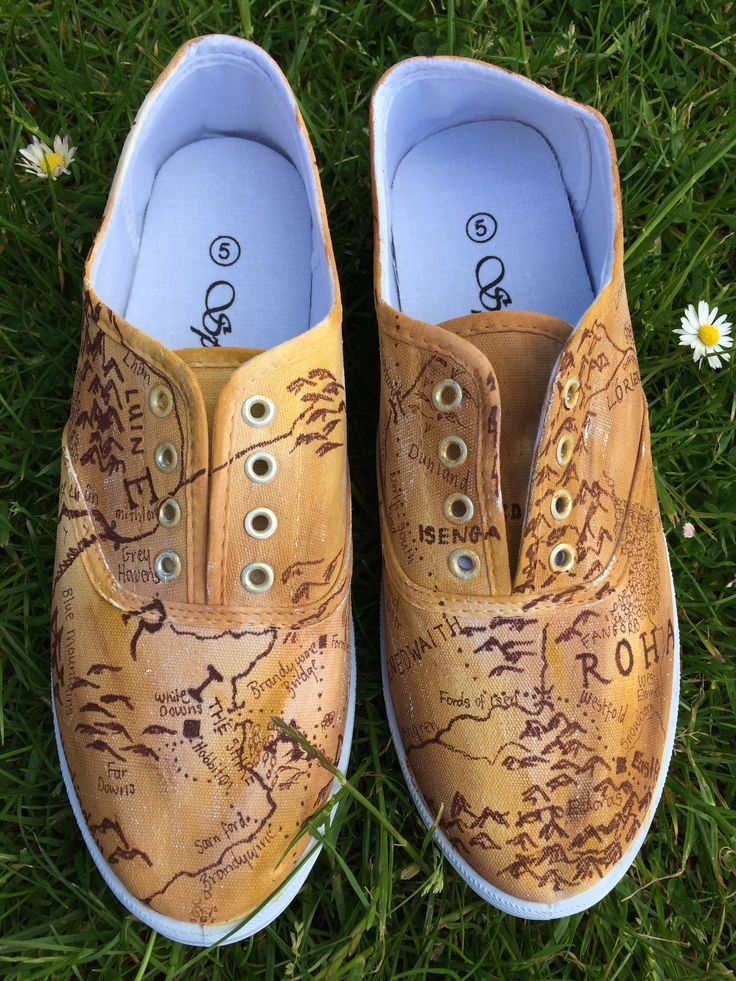 Map For Lord Of The Rings%0A Map of Middle Earth shoes by Fandom Shoes
