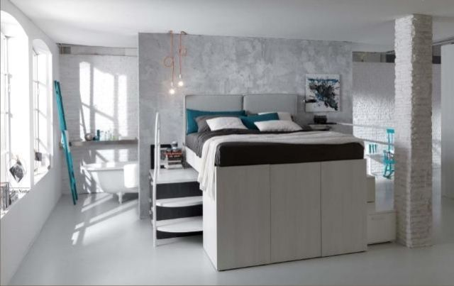 lit mezzanine deux places design-unique-moderne
