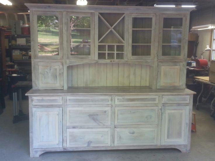 Dining Hutch Kitchen Room Wine Reclaimed Barn Wood China Cabinets Furniture Rack Custom Design