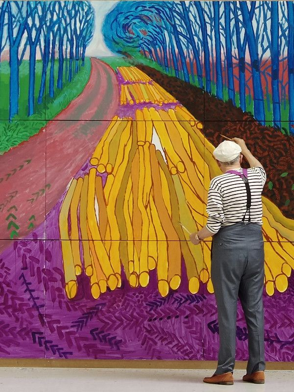 "David Hockney Painting ""Winter Timber"" in Bridlington, 2009"