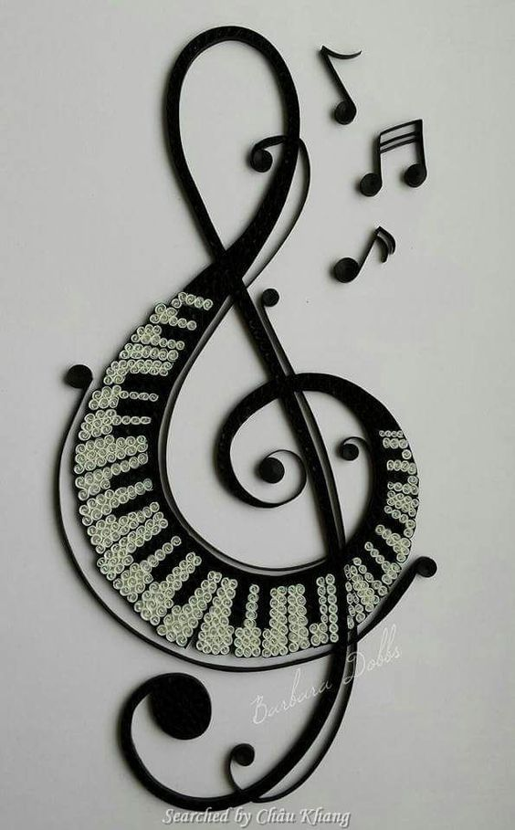 @ Barbara Dobbs- Quilled treble clef pictures (Searched by Châu Khang)