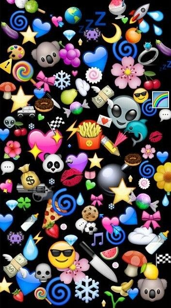 Cute emoji wallpaper
