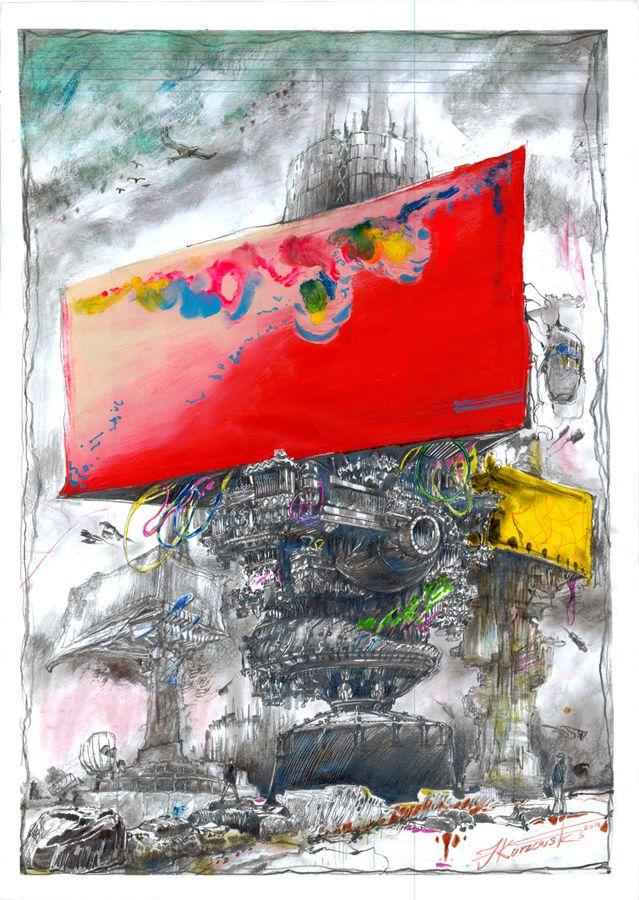 filip kurzewski; mixed technique on paper; 70x50cm / 27,5x19,5inch