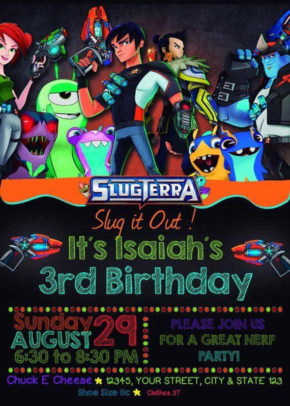 Slugterra Birthday Invitation Customizable Digital Card